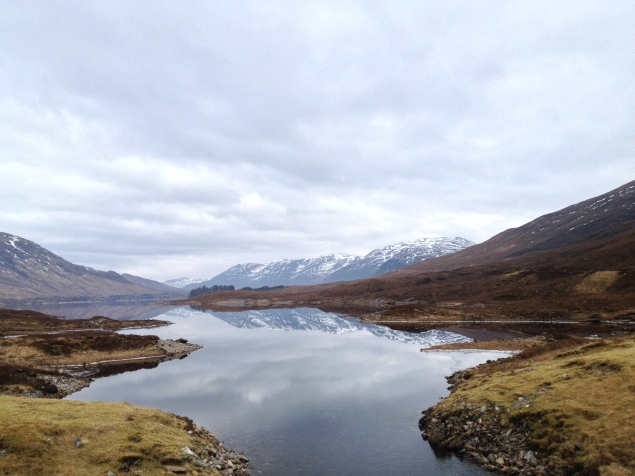 Loch Cluanie, February 2015. I made som deer friends and ate an amazing sandwich. It was mint.